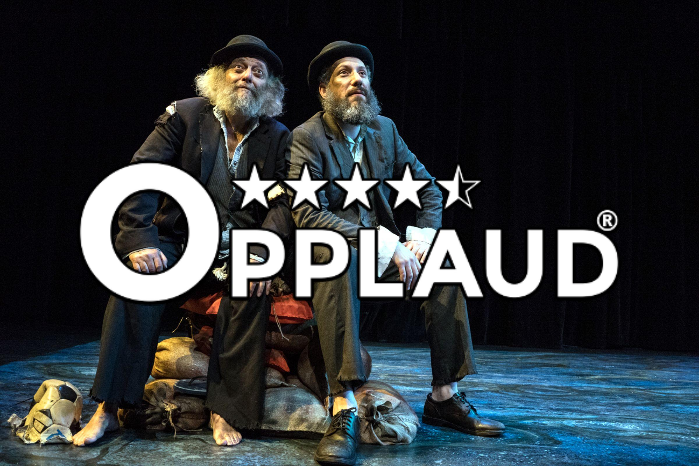 David Mandelbaum and Eli Rosen star in New Yiddish Rep's Waiting for Godot, performed in Yiddish at Theater at the 14th Street Y. Original photo by Dina Raketa.